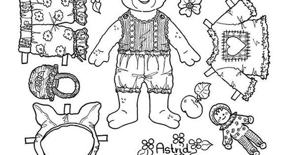 Girl Pig Paper Doll Coloring Page Coloring Pages