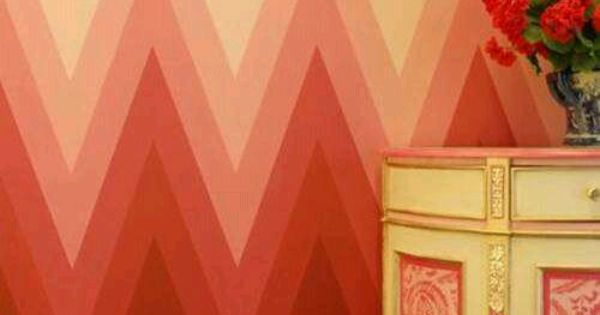 Awesome pink chevron wall from design inspiration