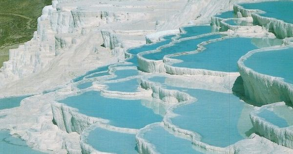 Pamukkale - Turkey - ONE of my favorite visits. What looks like