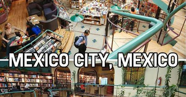 Awesome bookstores from around the world. If I had a bucket list,