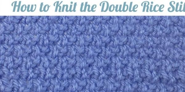 Knitting Rice Stitch In The Round : How to Knit the Double Rice Stitch Knitting and Crochet Pinterest Rice ...