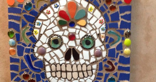 Day Of The Dead Mosaic Panel By Nm Artist Susanne Baca I