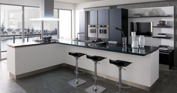 Ilot cuisine veneta cucine cuisine kitchen pinterest for Cuisine u avec bar