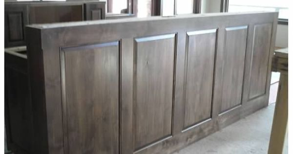 Pony wall for breakfast bar solid walnut counter still to come pony wall bar pinterest - Wall bar counter ...