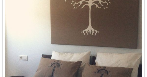 DIY, Bedhead with white Tree of Gondor design
