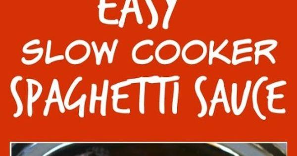 Spaghetti, Slow cooker spaghetti sauce and Slow cooker spaghetti on ...