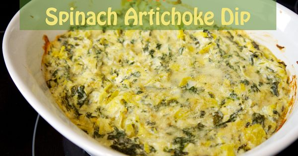 Spicy Spinach Artichoke Dip   Hopefully Healthy   Mmmm Tasty ...