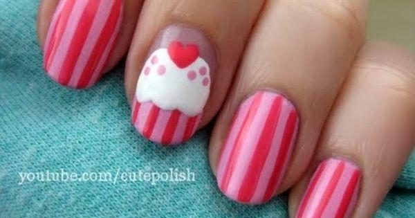 Cute Cupcake Nail Art nailart nails bestnails expensivenails