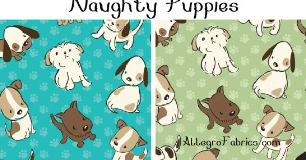 Camelot Naughty Puppies Fabric Puppies Dog Pattern Fabric