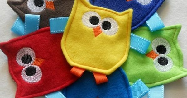 felt owl crinkle toy. Good idea for service project for autistic kids