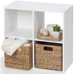 4 Cube Unit White White Cube Shelves Cube Decor Cube Storage