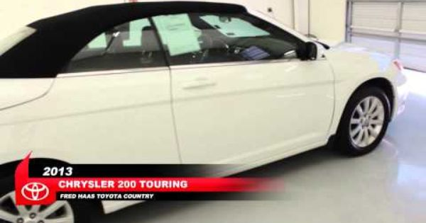 Pre Owned 2013 Chrysler 200 Touring Convertible Walk Around Video
