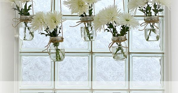 Love this idea to freshen up a window! buttonedupmason-jar-window-treatment-caption-frosted