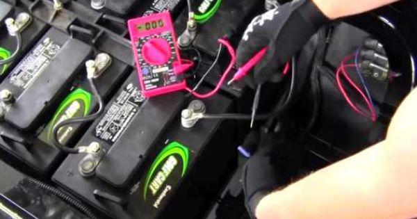 How To Install 36 Or 48 Volt To 12 Volt Voltage Reducer Converter In Golf Cart Video Golf Carts Yamaha Golf Carts Golf Cart Batteries
