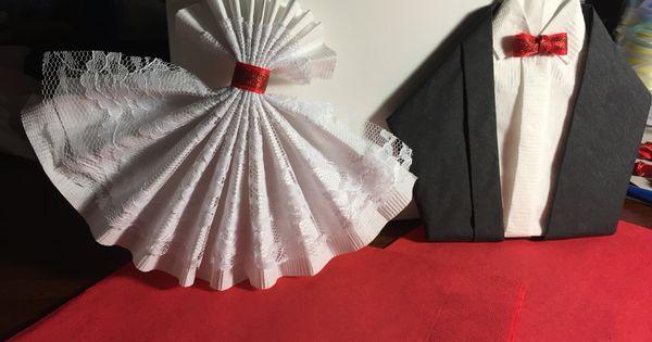napkin folding tux bride dress esther pinterest bride dresses and napkins. Black Bedroom Furniture Sets. Home Design Ideas