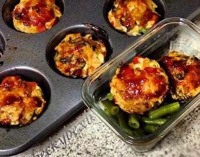 Ripped Recipes - Turkey Quinoa Mini Meatloaves - Give these mini meatloaves