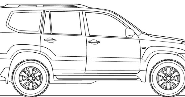 toyota land cruiser drawing  2