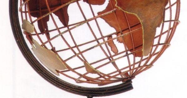 copper world globe sculpture maps pinterest globe. Black Bedroom Furniture Sets. Home Design Ideas