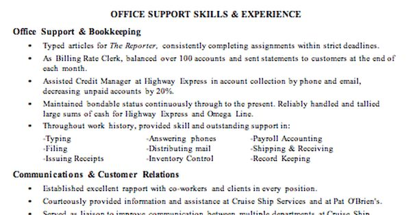 office manager bookkeeper resume