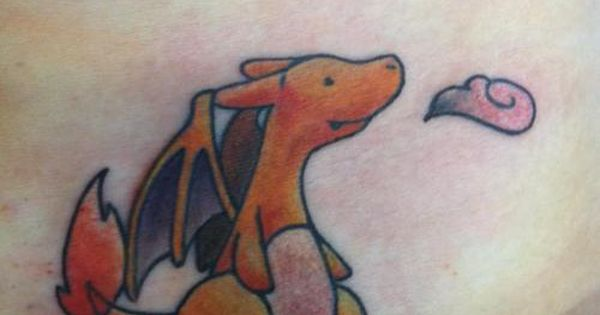 Cute Charizard tattoo - (Tatouage Dracaufeu tout mimi)