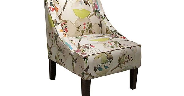 Quinn Swoop Arm Chair Cream Multi On Onekingslane Com