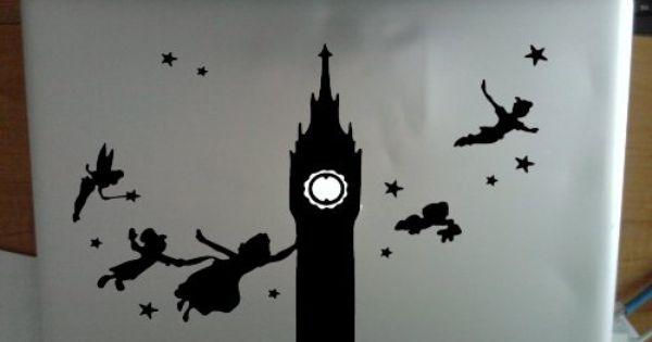 Peter Pan Clock Tower Flying With Friends Night Sky Apple