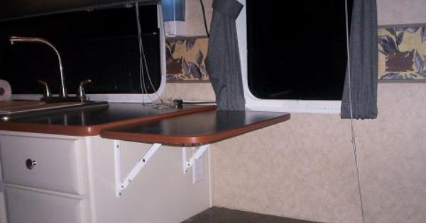 Another Simple Folding Counter Extension Rv Kitchen Tv In