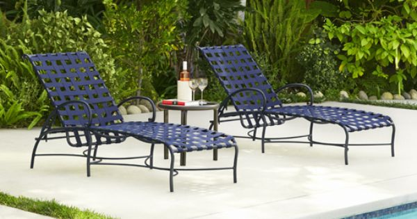 Roma Suncloth Strap Chaises Casual Outdoor Furniture Luxury Outdoor Furniture Pool Lounge