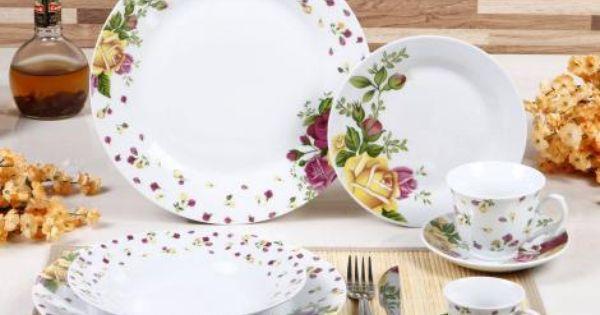 Aparelho De Jantar Provence 42 Pecas Em Porcelana Casa