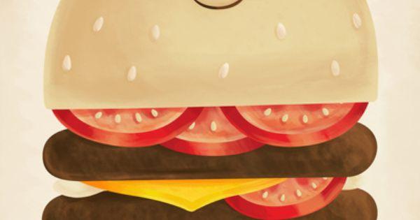 Burger Art Print Hamburguesas Dibujos Arte Lindo Y Dibujos Bonitos