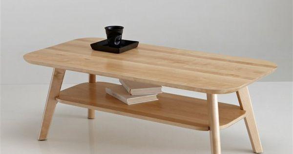 table basse 2 plateaux bouleau massif jimi la redoute interieurs bois clair naturel. Black Bedroom Furniture Sets. Home Design Ideas