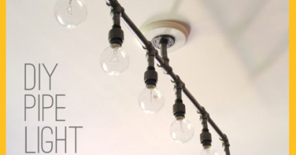 DIY: How To Make A Fabulous Plumbing Pipe Light Fixture! : DIY u0026 Crafts : Pinterest : Plumbing ...