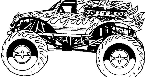Monster Truck Coloring Pages Letscoloringpages Com Fire