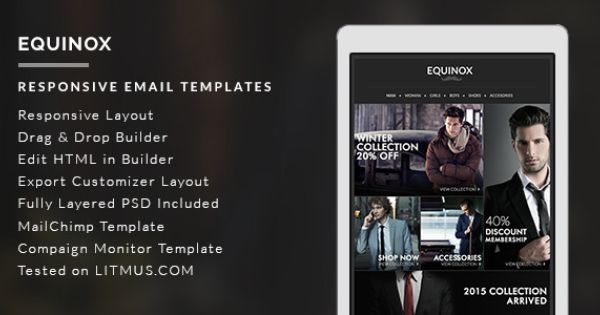 Equinox responsive email template is a elegant, professional - professional email template