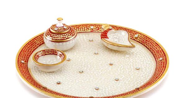 Gold Embossed Aarti Thali Diwali Gifts Online Gifts Gifts
