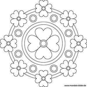 Mandala Vorlage Fur Senioren Mit Blumen Mandala Kunstunterricht Mandala Vorlagen Mandala Malvorlagen