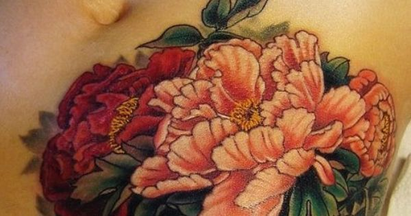 Flowers tattoo, hip/stomach placement