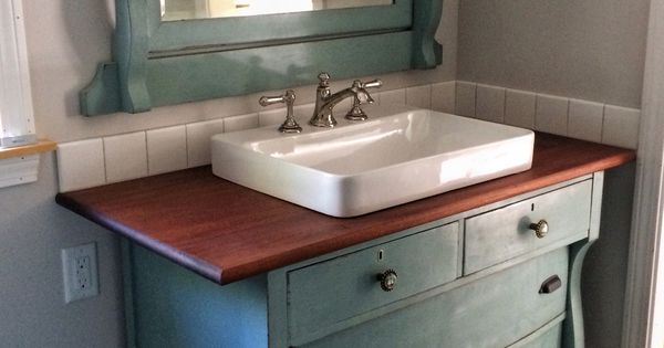 Repurposed Bathroom Ideas: I Just Repurposed An Old Dresser To Use As A Vanity In Our