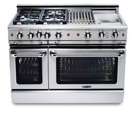 Precision Series 48 Self Clean Oven Cooking Range Kitchen