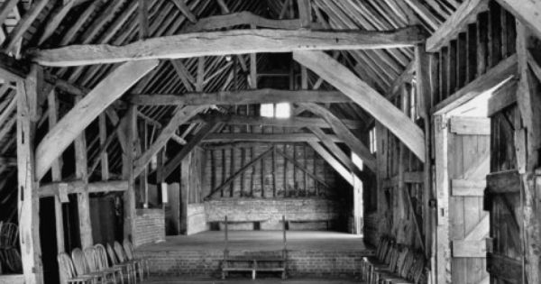 View Of The Interior Of The Mayflower Barn From A Story Concerning William Penn Photographic Print Hans Wild Allposters Com In 2020 Barn House Design Timber Frame Barn May Flowers