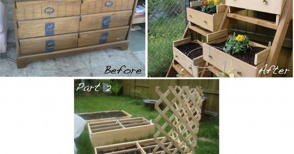 Raised bed out of old dresser!