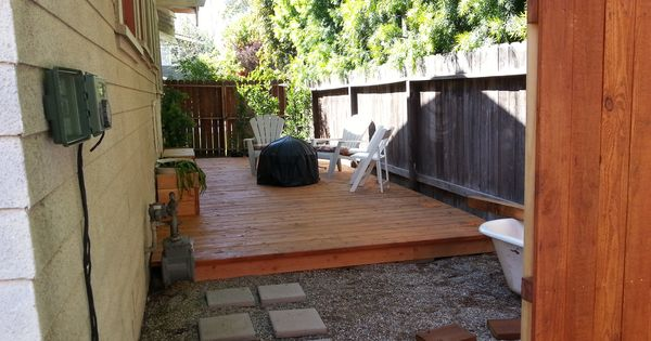 Finished deck side yard 1914 craftsman bungalow our for California bungalow vs craftsman