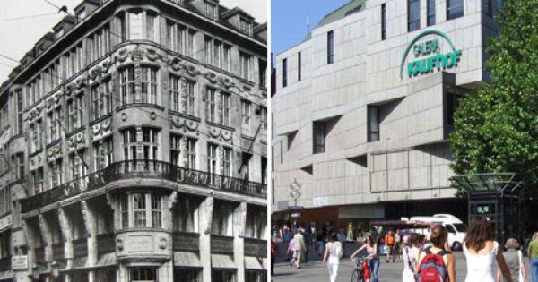 Das Roman Mayr Haus Am Marienplatz Wurde In Den 70er Jahren Abgerissen Um Dem Kaufhof Platz Zu Machen Munchen Munchen Bayern Bilder