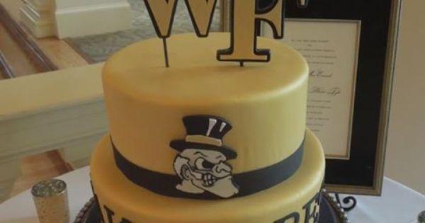 Wake Forest Cake So Cute Black And Gold Wake