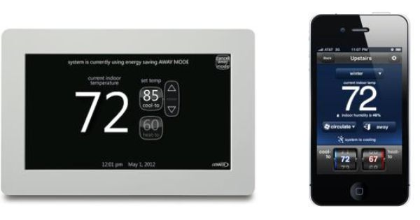A Tour Of Today S Wifi Home Icomfort Thermostat By Lennox Program Your Home For Optimal Comfort With Wifi Controlled He Hot Water System Save Energy Homeowner