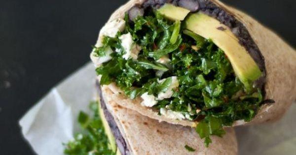kale and black bean burritos | yummy | Pinterest | Bean Burritos ...