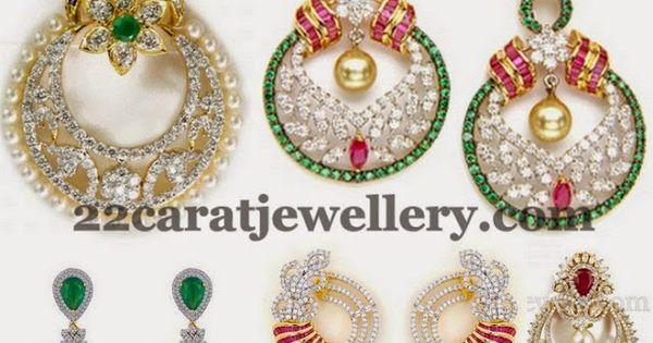 Jewellery Designs Tremendous Diamond Chandbalis
