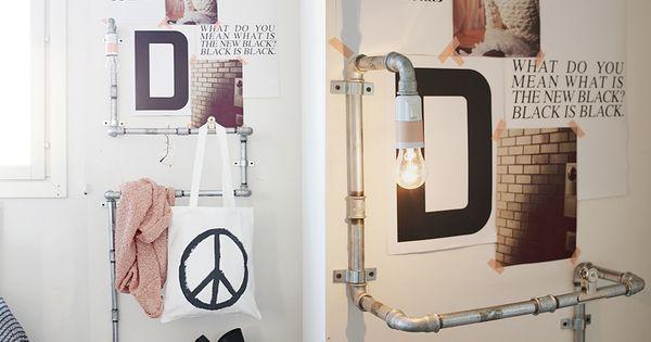 Diy lamp with a rack armario de luces y mis sue os - Luces para armarios ...