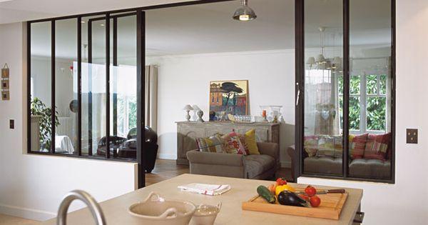Cloisons en cuisine jouez la transparence lofts - Separation vitree cuisine ...