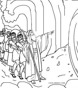 Moses Coloring Pages Red Sea Crossing Coloring Pages Coloring